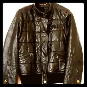 GUCCI blk leather jacket